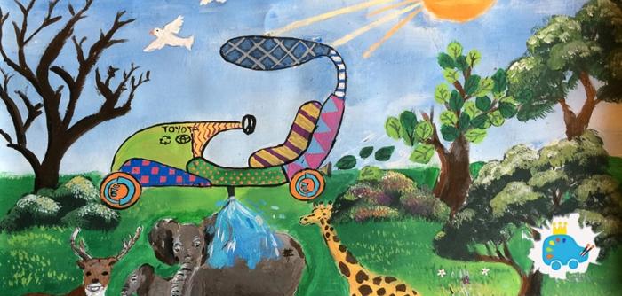 Solar-Powered Nature Car 843x403px